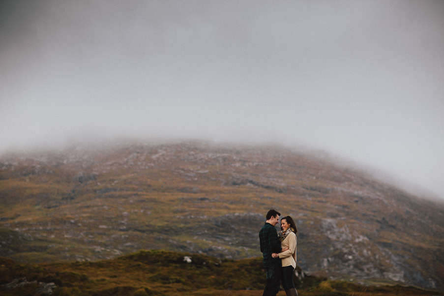 couple in the connemara mountains