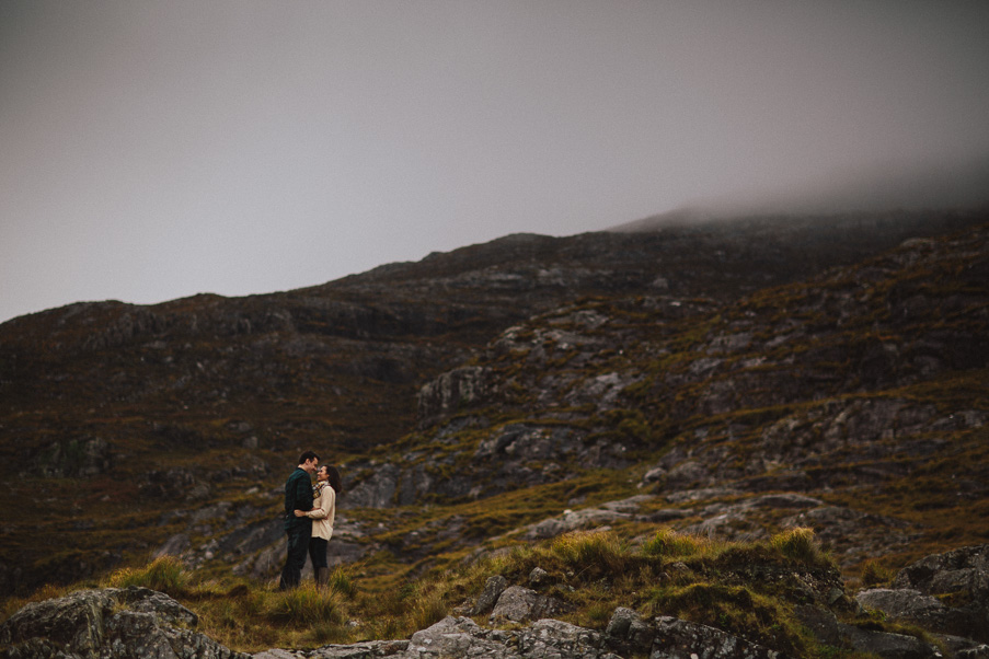 foggy shoot in the galway mountains