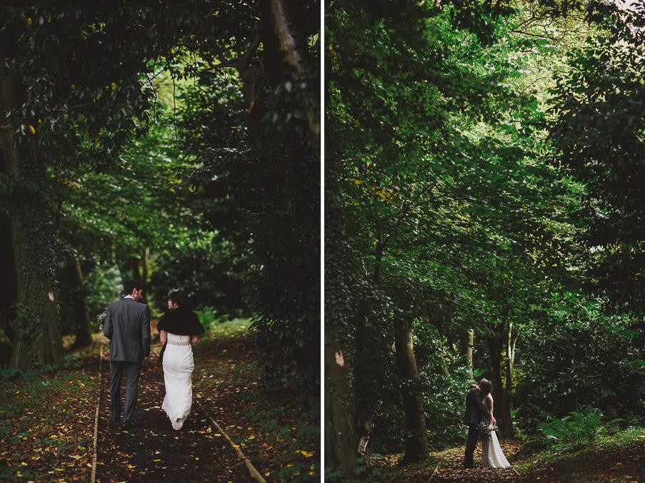 wedding photo with trees