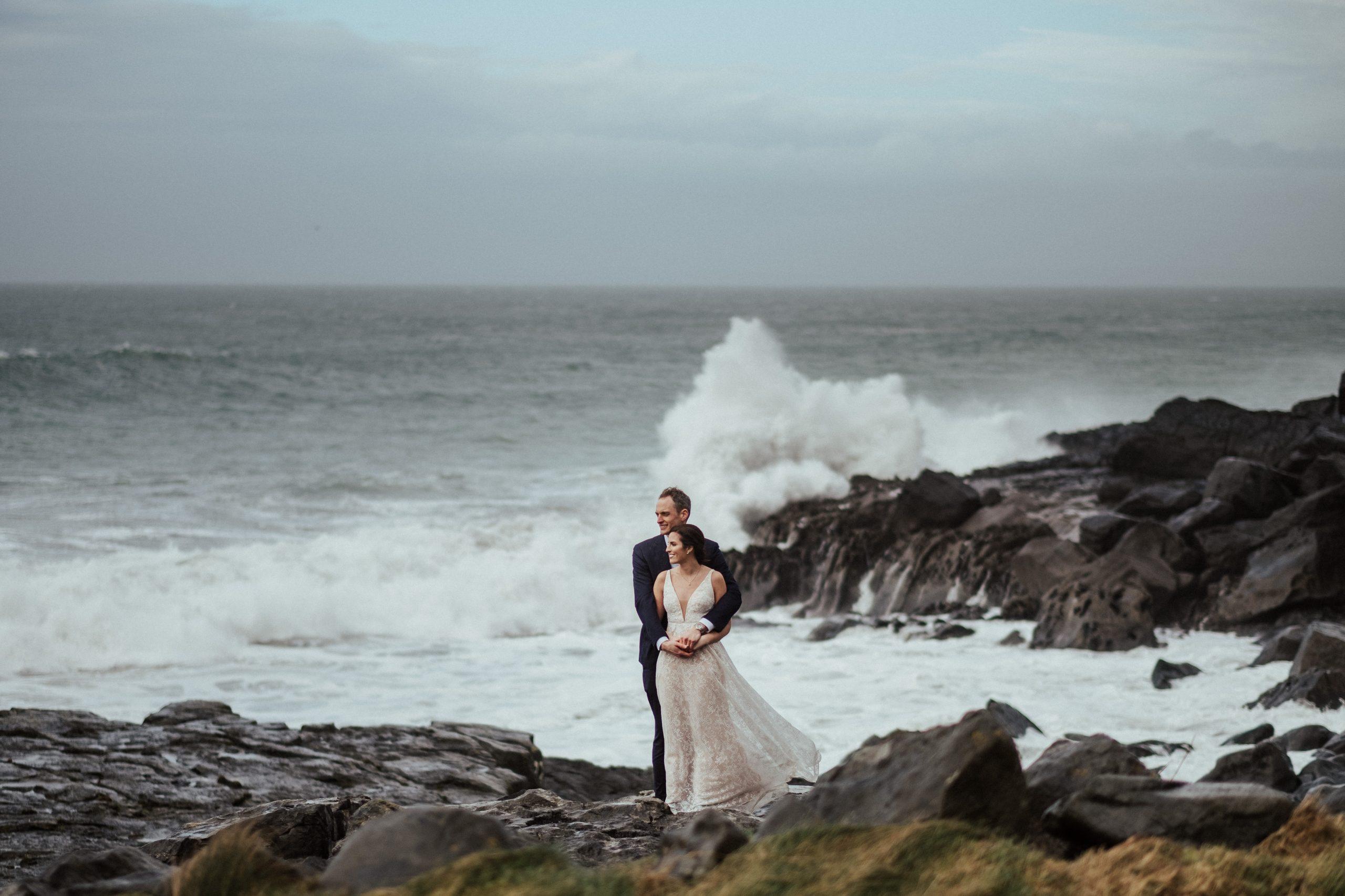 wedding in Doolin co Clare Ireland elopement
