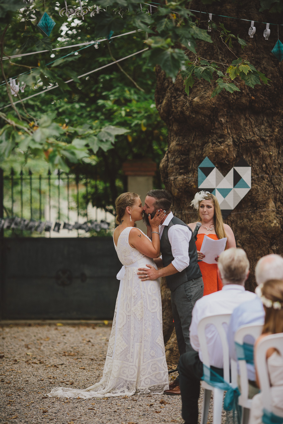 french wedding courtyard